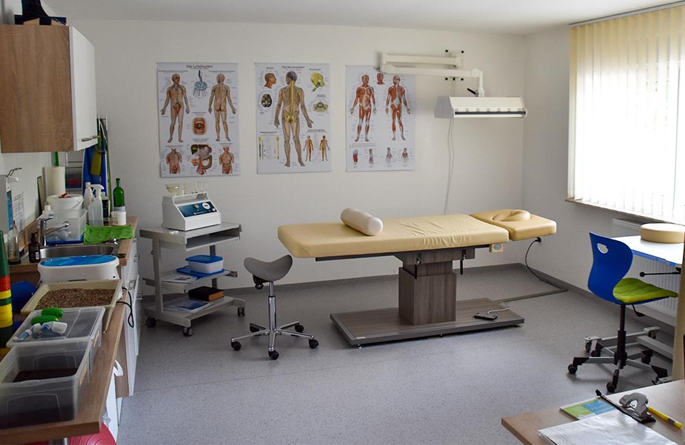 Behandlungsraum zu Ergotherapie