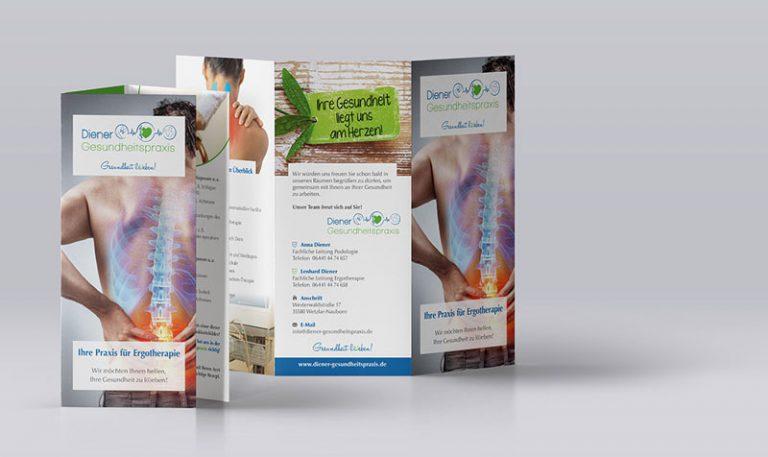 Infoflyer Diener Gesundheitspraxis